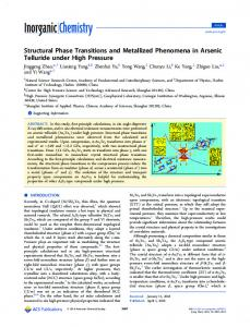 Structural Phase Transitions and Metallized ... - ACS Publications