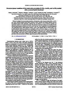 Structural phase transitions of the metal oxide ... - APS Link Manager
