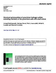 Structural polymorphism of pyrazinium hydrogen sulfate: extending