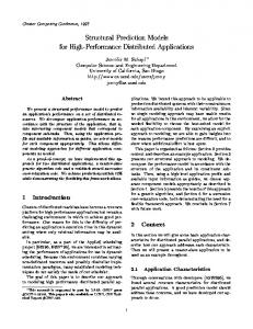 Structural Prediction Models for High-Performance ... - Semantic Scholar