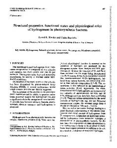 Structural properties, functional states and