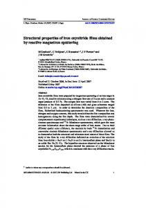 Structural properties of iron oxynitride films obtained ...