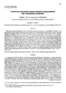 structural relations among schoepite. metaschoepite and - RRuff