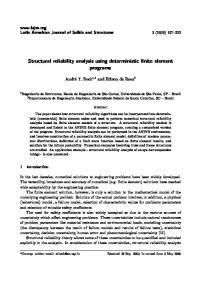 Structural reliability analysis using deterministic finite ...
