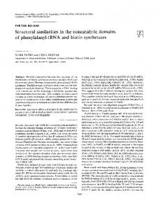 Structural similarities in the noncatalytic domains of ... - NCBI