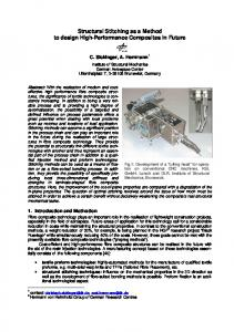 Structural Stitching as a Method to design High-Performance ... - DLR