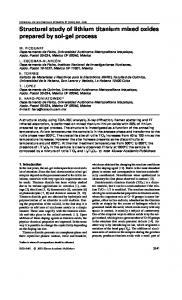 Structural study of lithium titanium mixed oxides ... - Springer Link