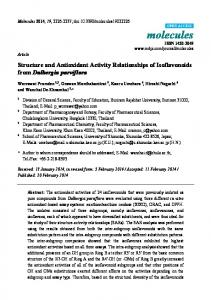 Structure and Antioxidant Activity Relationships of ... - MDPI