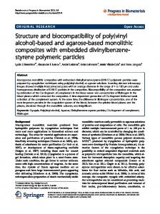 Structure and biocompatibility of poly(vinyl alcohol ... - Semantic Scholar