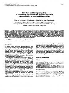 Structure and biological activity of crustacean ... - ScienceDirect