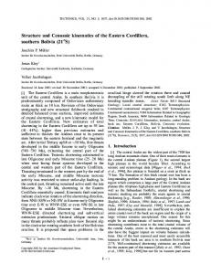 Structure and Cenozoic kinematics of the Eastern Cordillera, southern ...