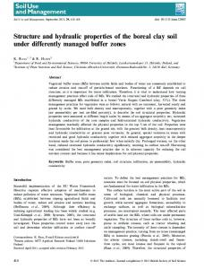 Structure and hydraulic properties of the boreal ... - Wiley Online Library