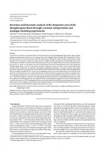 Structure and kinematic analysis of the deepwater area of the ...