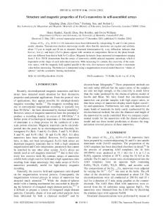 Structure and magnetic properties of Fe-Co ... - APS link manager