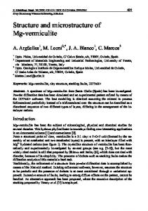 Structure and microstructure of Mg-vermiculite
