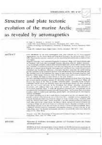 Structure and Plate Tectonic Evolution of the Marine Arctic ... - Archimer