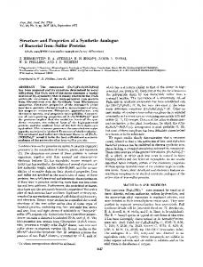 Structure and Properties of a Synthetic Analogue ... - Semantic Scholar