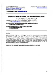 Structure and properties of fibres from sea-grass ... - Semantic Scholar