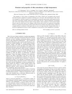 Structure and properties of silica nanoclusters at ... - Semantic Scholar
