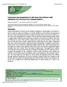 Structure and properties of silk from the African ... - Semantic Scholar