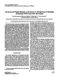Structure and Redox Behavior of Zirconium in ... - Science Direct