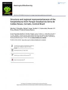 Structure and regional representativeness of the