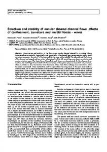 Structure and stability of annular sheared channel