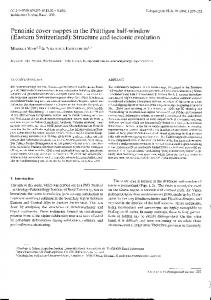 Structure and tectonic evolution Penninic cover nappes in the ...