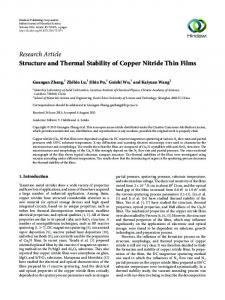 Structure and Thermal Stability of Copper Nitride Thin Films