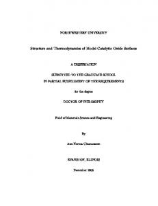 Structure and Thermodynamics of Model Catalytic ... - Northwestern