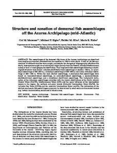 Structure and zonation of demersal fish assemblages off the Azores ...