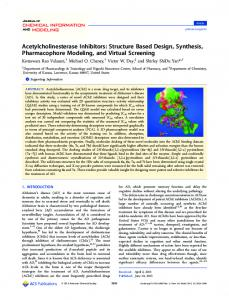 Structure Based Design, Synthesis ... - ACS Publications