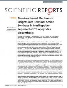 Structure-based Mechanistic Insights into Terminal Amide ... - Nature