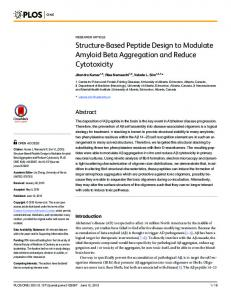 Structure-Based Peptide Design to Modulate Amyloid Beta ... - PLOS