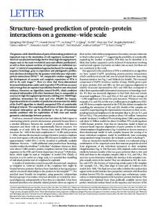 Structure-based prediction of protein-protein ... - Semantic Scholar