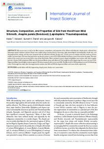 Structure, Composition, and Properties of Silk from the ...