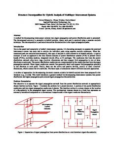 Structure Decomposition for Hybrid Analysis of Multilayer Interconnect ...