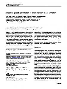 Structure-guided optimization of small molecule c-Abl ... - Springer Link