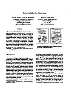 Structure in On-line Documents - Semantic Scholar