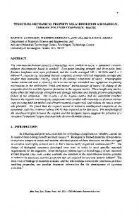 structure-mechanical property relationships in a biological ceramic ...