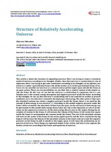 Structure of Relatively Accelerating Universe - Scientific Research ...