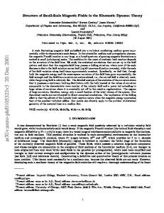 Structure of Small-Scale Magnetic Fields in the Kinematic Dynamo ...