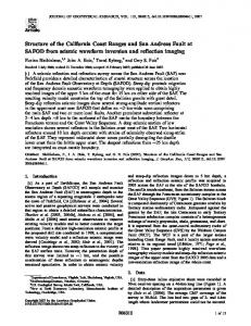 Structure of the California Coast Ranges and ... - Wiley Online Library