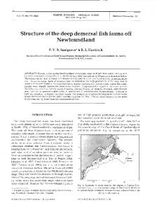 Structure of the deep demersal fish fauna off ... - Inter Research