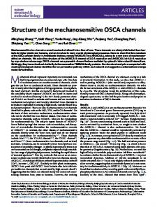 Structure of the mechanosensitive OSCA channels