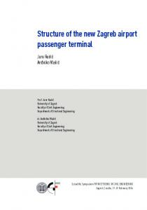 Structure of the new Zagreb airport passenger terminal