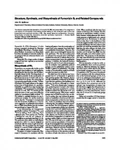 Structure, Synthesis, and Biosynthesis of Fumonisin ... - BioMedSearch