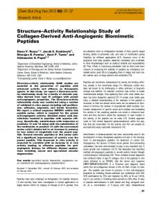 StructureActivity Relationship Study of ... - Wiley Online Library