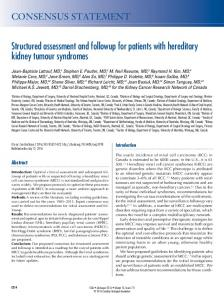 Structured assessment and followup for patients with hereditary kidney ...