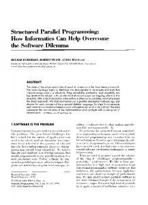 Structured Parallel Programming - Hindawi